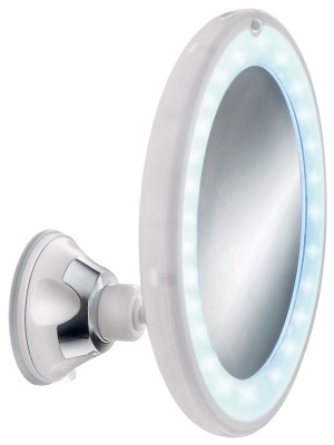 Kleine Wolke badkamerspiegel Flexy Light wit Ø17